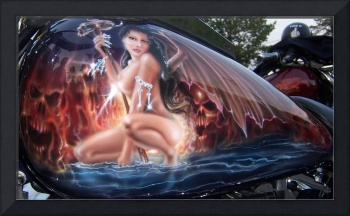 Wing Goddess Airbrush Original by Darren Sears, Ar
