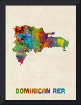 Dominican Republic Watercolor Map