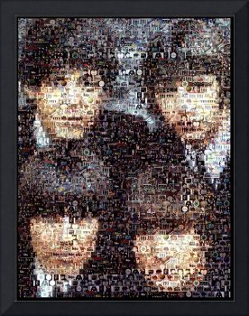 Beatles Fab 4...Amazing Montage Mosaic illusion po