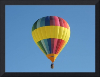 A very colorful hot air balloon
