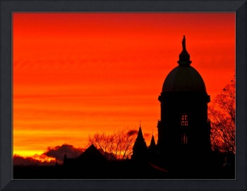 Sunset at Notre Dame