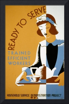 Works Progress Administration maid poster 1939