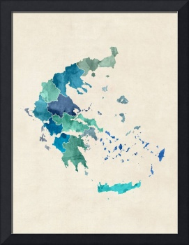 Greece Watercolor Map
