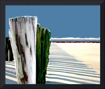 Abstract Beach Fence