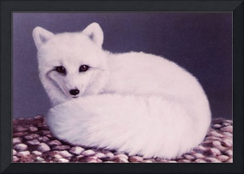 Arctic Fox painting