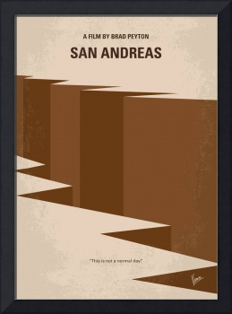 No810 My San Andreas minimal movie poster