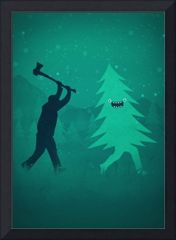 Funny Christmas Tree Hunted by lumberjack (Funny H