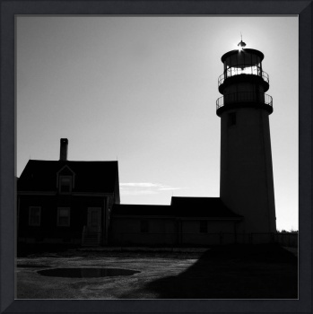 Highland Light in Black and White