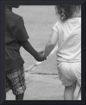 Holding Hands 2 BW 16 X 20