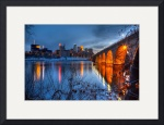 Minneapolis Skyline Images Stone Arch Bridge by Wayne Moran