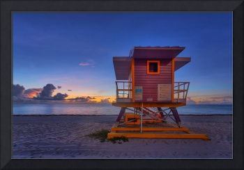 50th Street Lifeguard Tower at Dawn