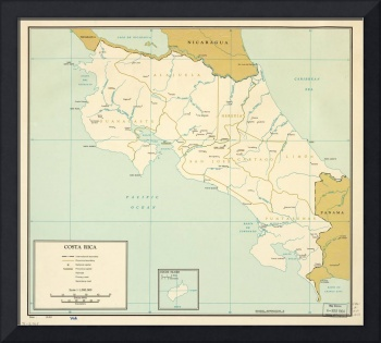 Map of Costa Rica (1963)