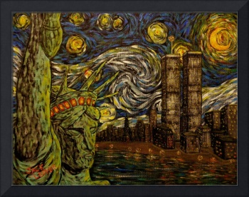 Dedication NYC Starry Night Twin Towers