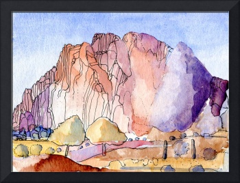 Las Encantadas Watercolour Painting