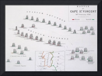 Plan of the Battle of Cape St. Vincent