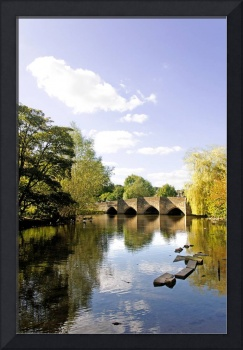 Bakewell Bridge, Over the River Wye (20659-RDA)