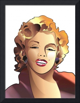cartoon portrait of Marilyn Monroe