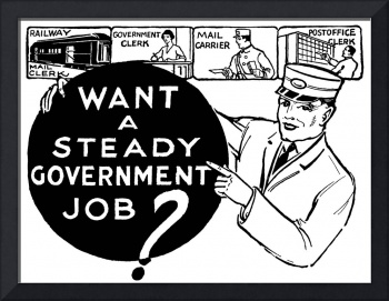 Government Job -- 1931 ad