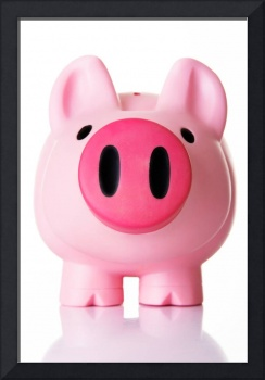 Piggy bank. Isolated on white.