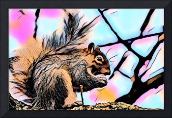 Squirrel Pop Art Comic