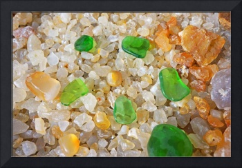 Green Sea Glass Rock Garden Zen Inspirational