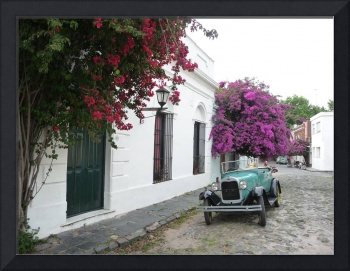 Classic Car on Cobblestone
