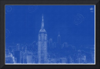 Archtectural Blueprint Drawing - New York USA