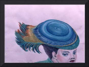 GIRLL WHIT BLUE HAT