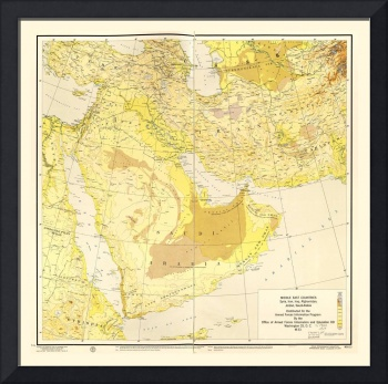 Middle East Map (1955)