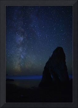 Milky Way by Olympic National Park sea stack