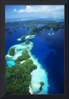 Micronesia, Palau, Rock Islands, Aerial