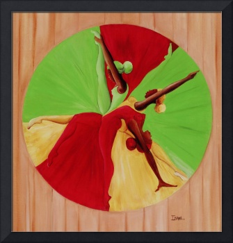 Dance Circle, (oil on canvas) by Ikahl Beckford