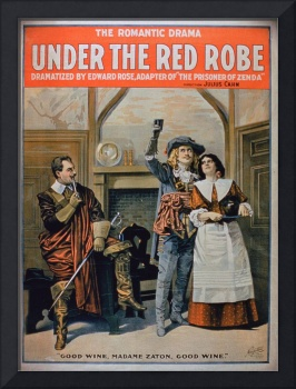 Advertisement for 'Under the Red Robe'