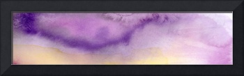 Panoramic Watercolor Abstract Clouds