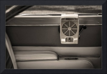 Vintage Drive-in Speaker Hung In A Classic Car