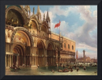FEDERICO MOJA, VENICE, A VIEW OF SAINT MARK'S SQUA