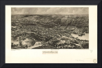 1899 Hopedale, MA Birds Eye View Panoramic Map