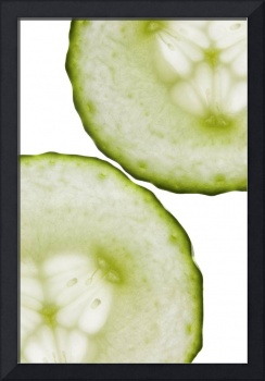 Cucumber Green White Wall Art