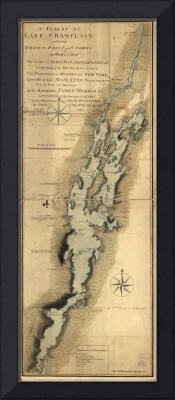 Vintage Map of Lake Champlain (1865)
