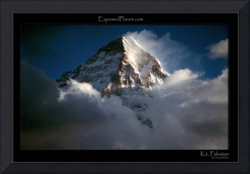 Pakistan: Summit of K2 above the clouds from conco