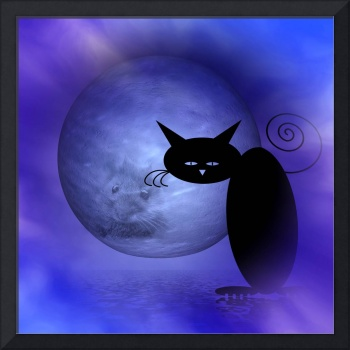 mooncat's dream of the mouse in the moon