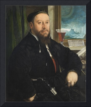 Portrait of Matthäus Schwarz 1542 by Christoph Amb