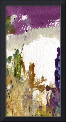 Moss and Earth Intuitive Tall Abstract by Ginette