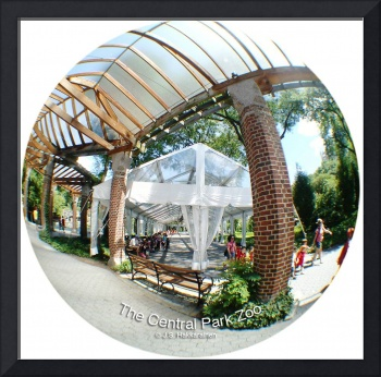 NYC CENTRAL PARK ZOO Tent and brick arbor fisheye