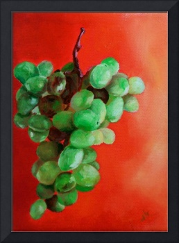 Grapes On Red