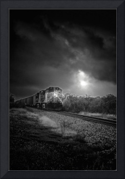 Freight Train At Night