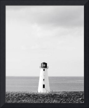 Minimalist Lighthouse Photo - Black and White Naut