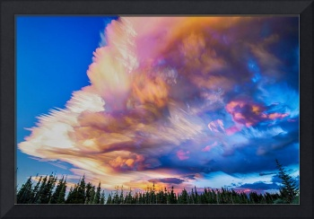 High Elevation Forest Sunset Sky Timed Stack