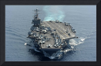 USS Abraham Lincoln transits the Indian Ocean