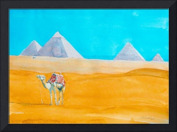 Pyramids of Giza and Camel